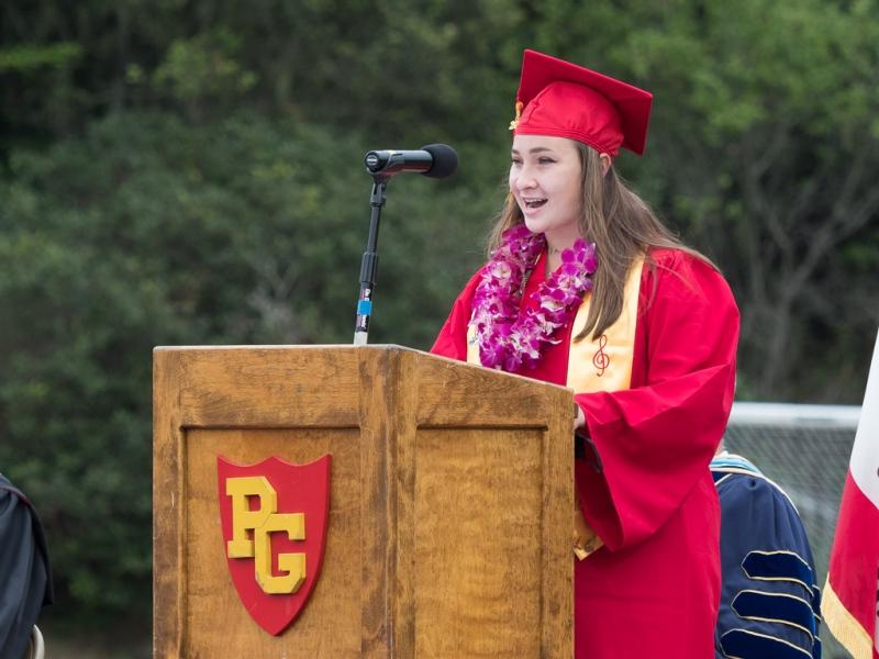 Claire Roggeman, Class Speaker