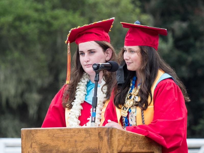 Salutatorians Eva Mills & Gabriella Giraldo