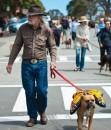 Richard the Texan walks with his dog-0431