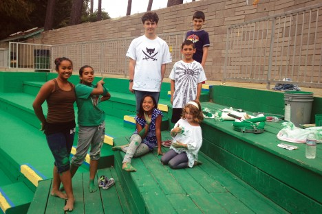 muni ballpark - Christian Leisner with PG PONY volunteers - Staci Consiglio