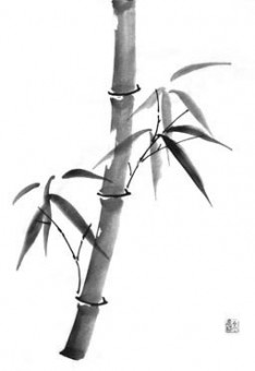 bamboo brush painting
