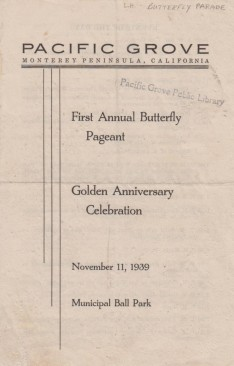 1939 Butterfly Pageant Program 1st Annual