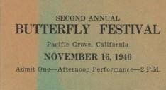 1940 Butterfly Festival Ticket edit