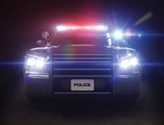Police car with light bar