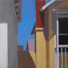 "Carol Chapman: ""Pacific Grove"", oil, 6""x6"""