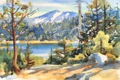 "Alicia Meheen: ""View of Emerald Bay"" watercolor"