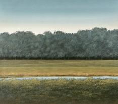 """Richard Tette: Untitled Landscape, oil, 32""""x36"""""""