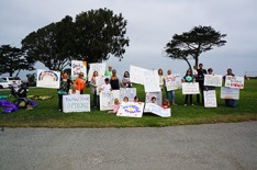 Local women rallied at Window on the Bay to promote accountability in birth method choices.