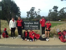 Breakers girls' golf team poses before their match against Stevenson on Tuesday afternoon.