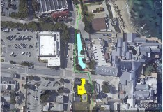 Aerial map of evacuation drill