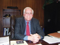 Tony Sollecito at his former desk at Seaside PD