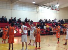 John Buttrey, #30, watches as he sinks his lone free throw against Gonzales in the third quarter.