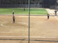 Sofia Baker takes the mound in the top of the 7th inning to close out the Breakers 14-11 victory over NMC