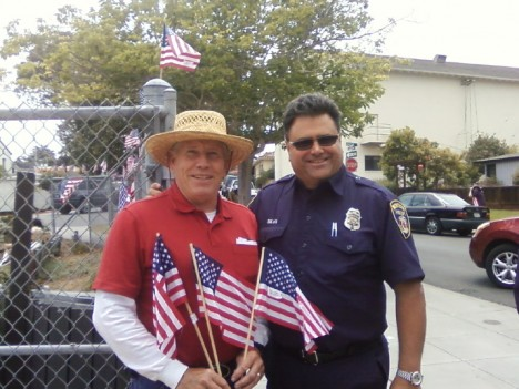 Don Mothershead and FF Joe Silva/Photo courtesy Christine Conneau