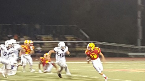 Nick Coppla led the Breakers with 107 yds and 1 TD on the ground with only 8 carries
