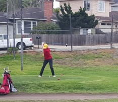 Courtney Vogel, who shot a 36 in her match against NMC