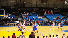 Gaurav Gurung drains the 3-pointer for the Breakers in the 3rd qt